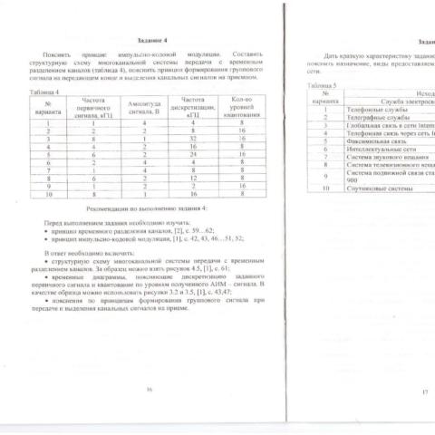 Контрольная работа по курсу «Основы построения телекоммуникационных систем и сетей»