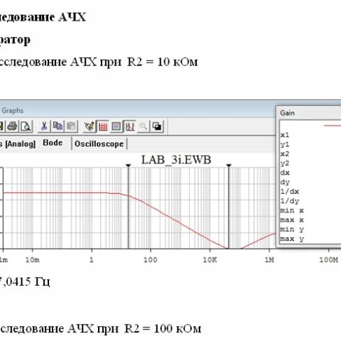 Лабораторная №3  Исследование интегратора и дифференциатора на основе операционного усилителя