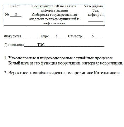 Билет №5 Теория связи «Узкополосные и широкополосные…